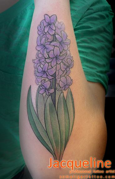 Arm Realistic Flower Tattoo by Soma Tiger Tattoo