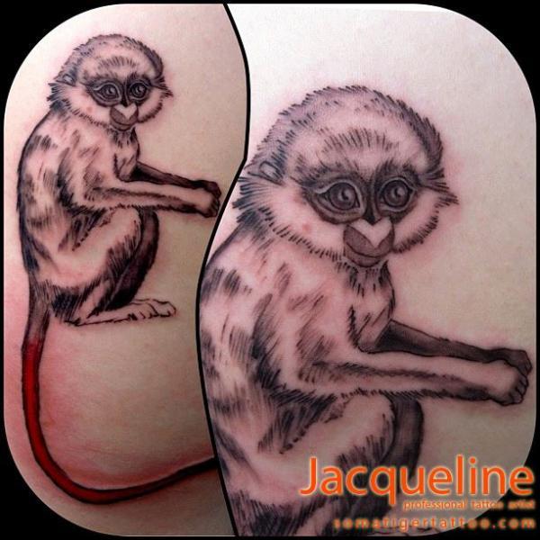 Realistic Monkey Tattoo by Soma Tiger Tattoo