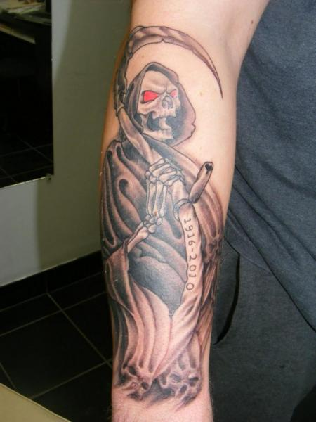 Arm Death Tattoo by Sonic Tattoo