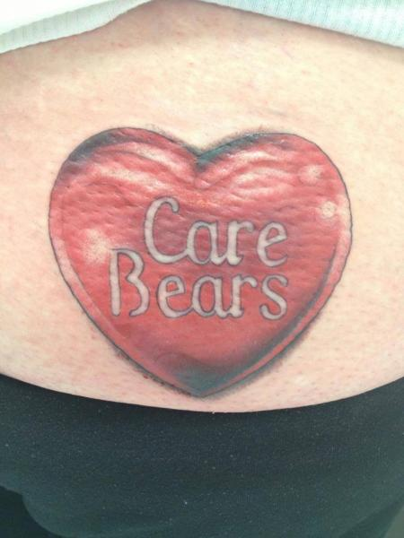 Heart Lettering Candy Tattoo by Sonic Tattoo