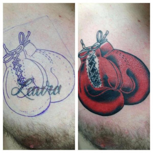 Chest Boxe Tattoo by Sonic Tattoo