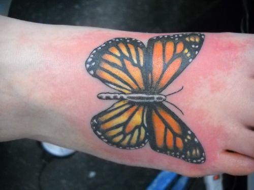 Foot Butterfly Tattoo by Sonic Tattoo
