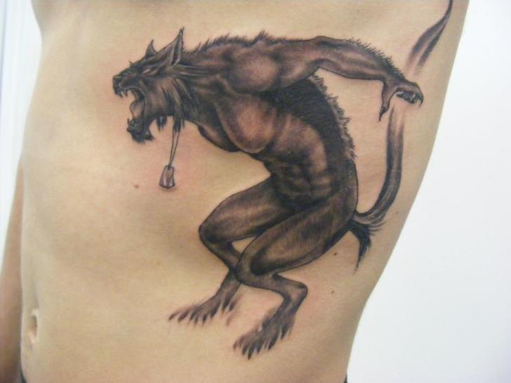 Fantasy Side Monster Tattoo by Sonic Tattoo