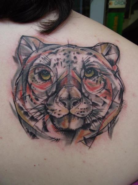 Rücken Tiger Tattoo von Tartu Tatoo