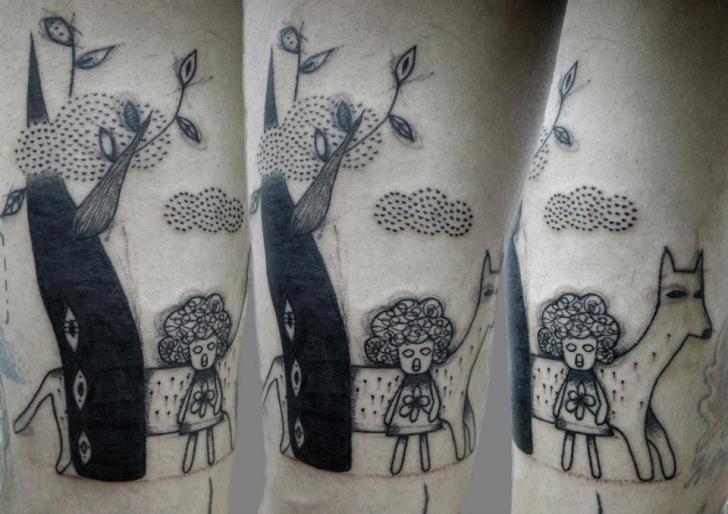 Dotwork Draw Tattoo by Black Ink Power