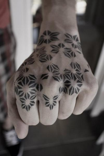 Hand Dotwork Tattoo by Black Ink Power