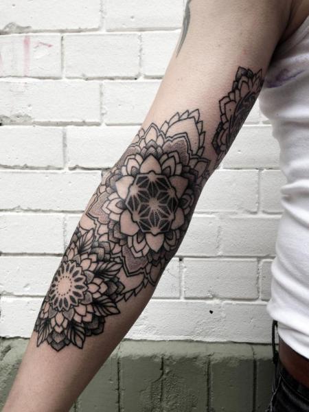 Arm Dotwork Tattoo by Philippe Fernandez