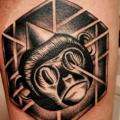 Arm Dotwork Monkey tattoo by Raw Tattoo