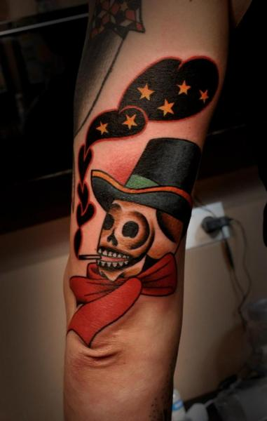Arm Fantasy Skull Tattoo by Raw Tattoo