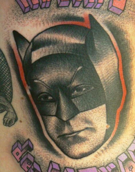 Batman Dotwork Tattoo by Raw Tattoo