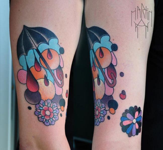 Fantasie Regenschirm Tattoo von Raw Tattoo