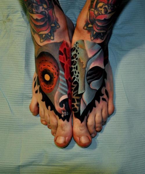 Fantasy Foot Tattoo by Raw Tattoo