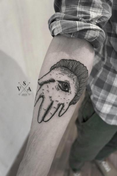 Arm Fantasy Dotwork Tattoo by Master Tattoo