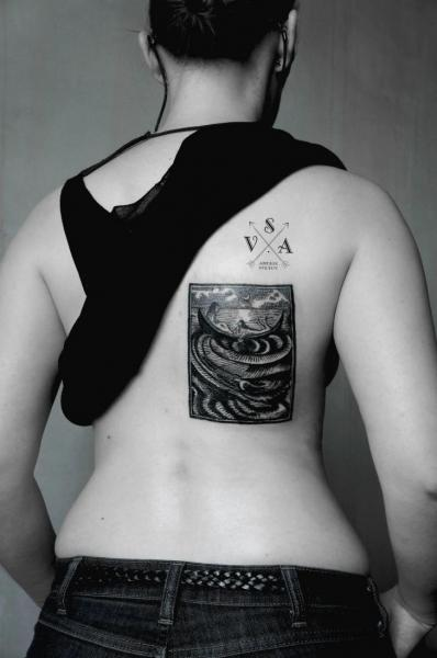Back Dotwork Tattoo by Master Tattoo