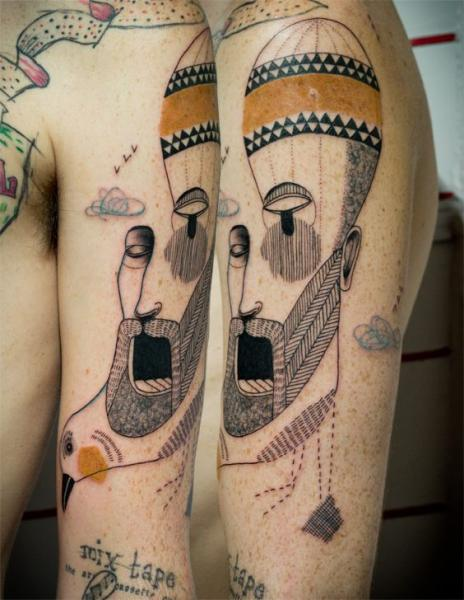 Shoulder Arm Fantasy Balloon Men Tattoo by Expanded Eye