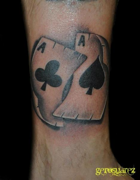 Arm Ace Card Tattoo by Seven Arts