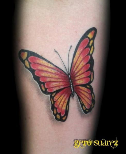Realistic Butterfly Tattoo by Seven Arts