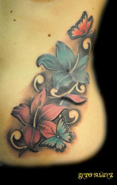 Flower Side 3d Tattoo by Seven Arts