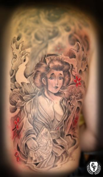 Japanese Geisha Tattoo by Cosa Fina Tattoo