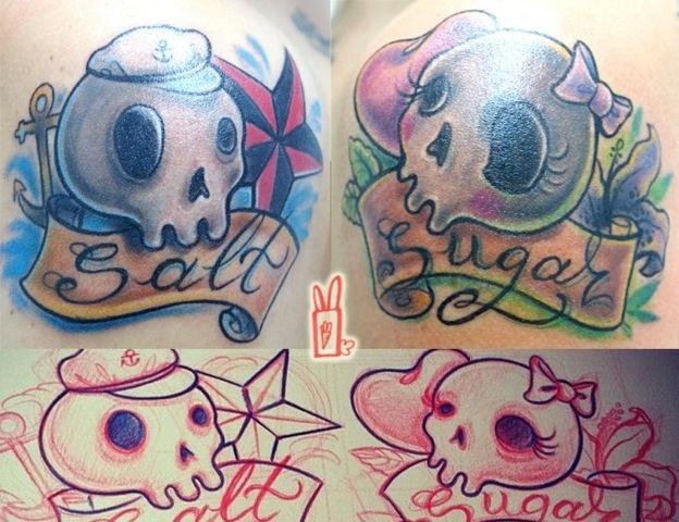 Tatuaje Cráneo por Customiz Arte