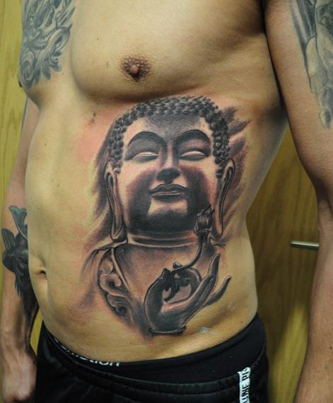 Side Buddha Religious Tattoo by Miguel Ramos Tattoos