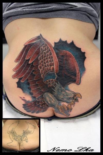 Back Eagle Tattoo by Nautilus Tattoo Gallery