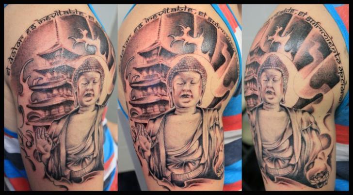 Schulter Buddha Religiös Tattoo von Nautilus Tattoo Gallery