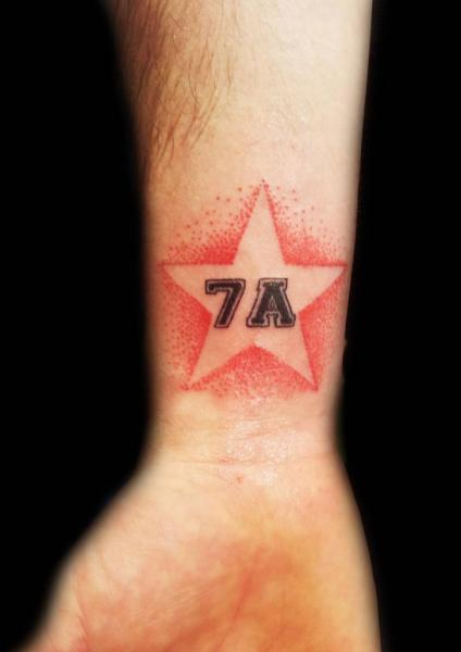 Arm Star Tattoo by Planeta Tattoo