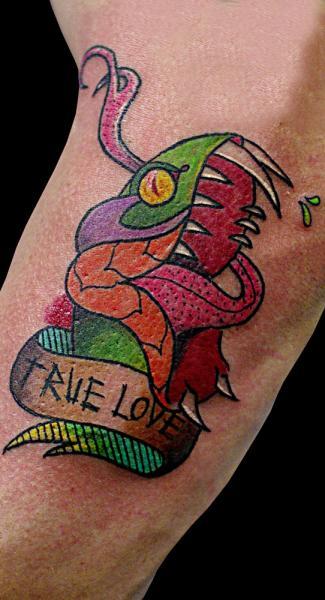 Arm New School Snake Tattoo by Sputnink Tattoo