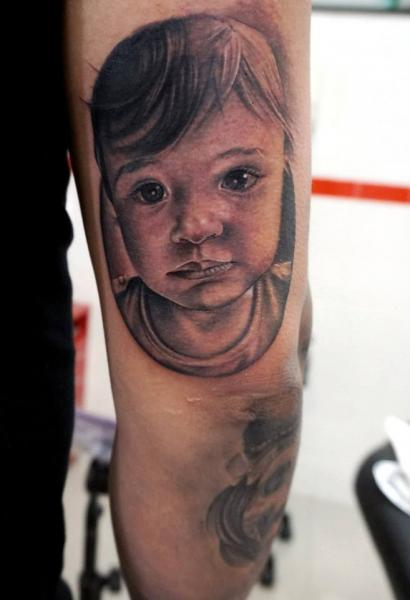 Arm Realistic Children Tattoo by Astin Tattoo