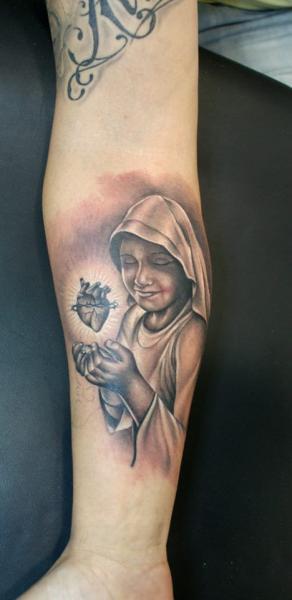 Arm Realistic Nun Tattoo by Astin Tattoo