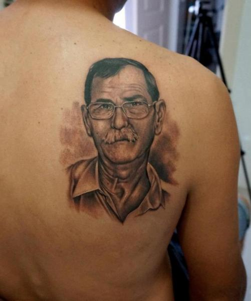 Shoulder Portrait Realistic Tattoo by Astin Tattoo
