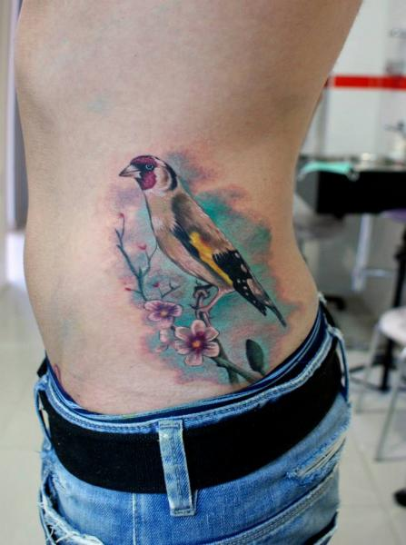Realistic Side Bird Tattoo by Astin Tattoo