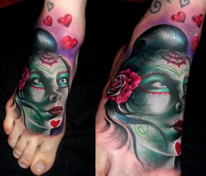 Fantasy Foot Women Tattoo by Bonic Cadaver