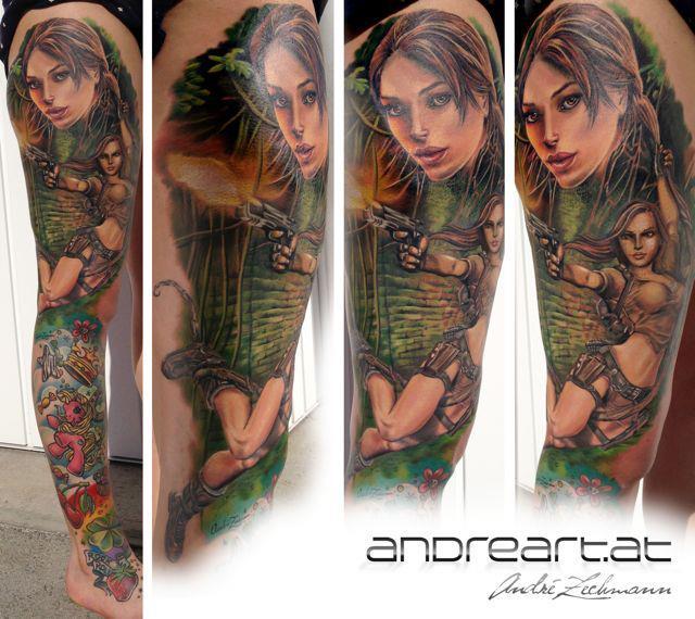 Bein Frauen Tattoo von Andreart Tattoo