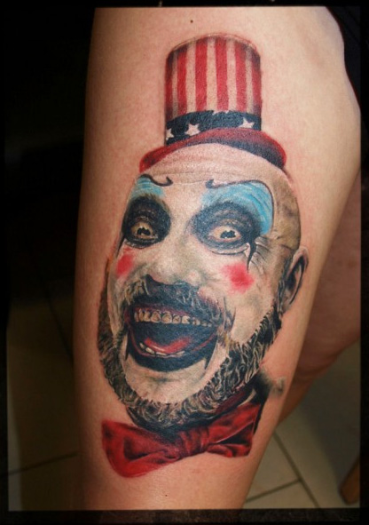 Arm Fantasie Clown Tattoo von Art Line Tattoo
