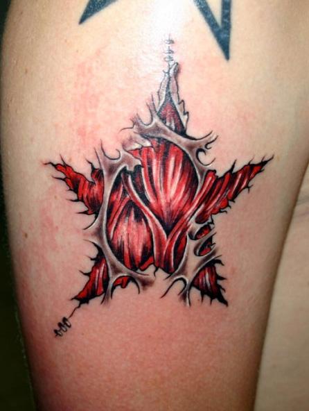 Arm Fantasy Star Tattoo by Art Line Tattoo