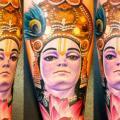 Arm Japanische Buddha tattoo von Art Line Tattoo