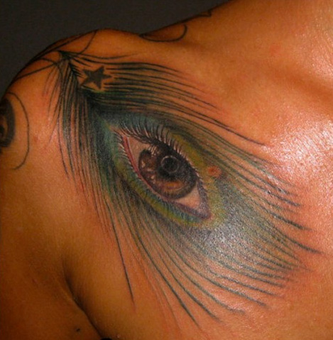 Shoulder Eye Tattoo by Art Line Tattoo