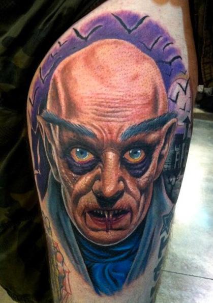 Shoulder Fantasy Portrait Tattoo by Art Line Tattoo