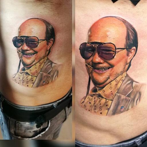 Portrait Side Tattoo by Art Line Tattoo