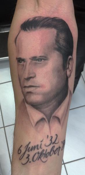 Arm Portrait Realistic Tattoo by Chrischi77