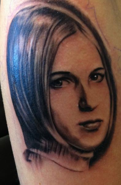 Portrait Realistic Tattoo by Chrischi77