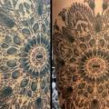 Dotwork Thigh tattoo by Tin Tin Tattoos
