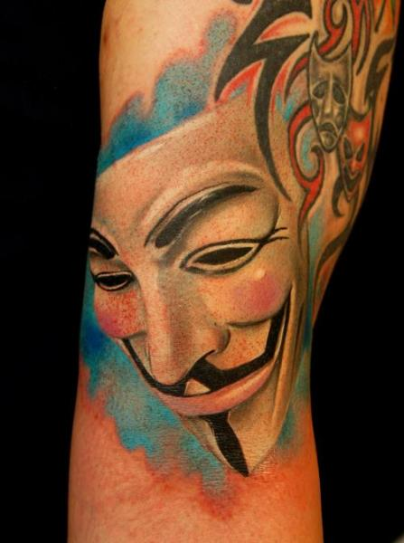 Arm Mask Tattoo by Grimmy 3D Tattoo