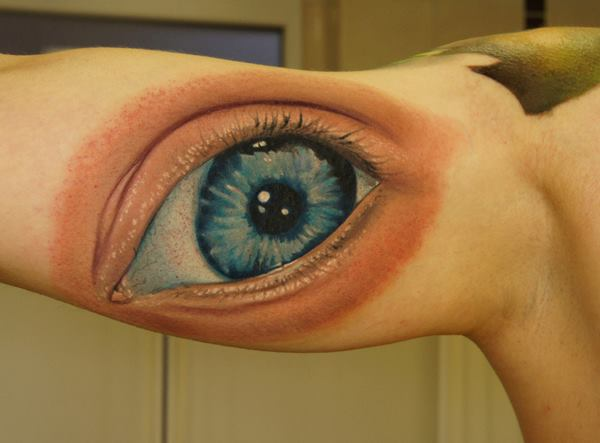 Arm Realistic Eye Tattoo by Grimmy 3D Tattoo