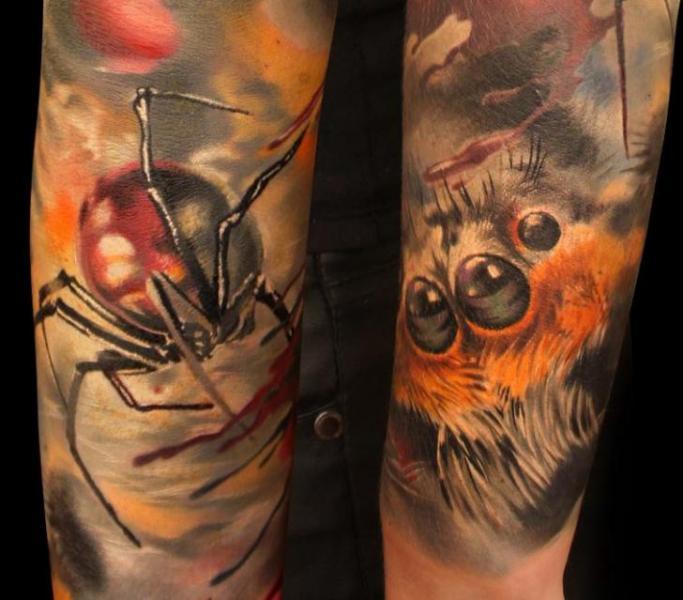 Arm Spider Tattoo by Grimmy 3D Tattoo