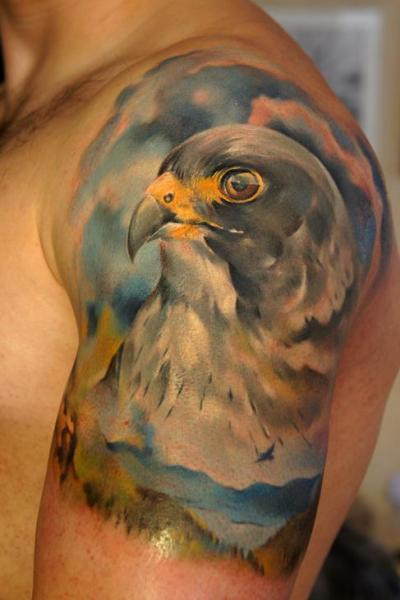 Shoulder Realistic Eagle Tattoo by Grimmy 3D Tattoo
