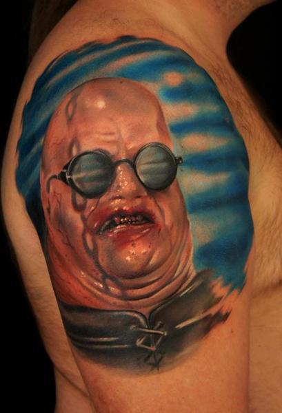 Tatuaggio Spalla Fantasy Personaggi di Grimmy 3D Tattoo