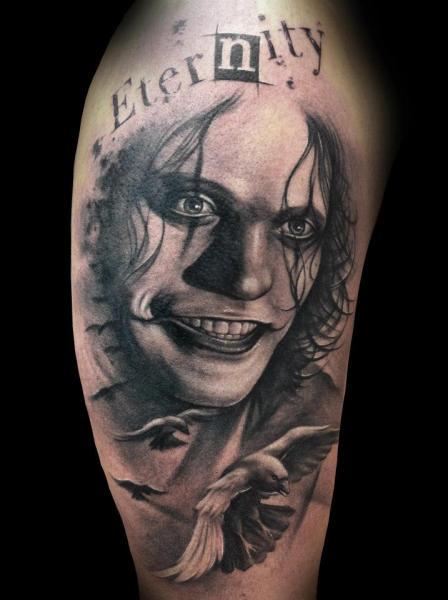 Tatuaggio Realistici Scritte Corvo di Tatuajes Demon